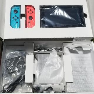 ニンテンドースイッチ(Nintendo Switch)のNintendo Switch  (L) ネオンブルー / (R) ネオンレッド(家庭用ゲーム本体)