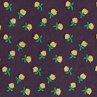 ミナペルホネン(mina perhonen)のミナペルホネン ファブリック skip 生地幅4分の1×50  パープル(生地/糸)