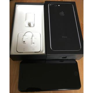 アップル(Apple)のiPhone7puls ブラック 128(スマートフォン本体)