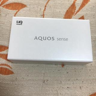 シャープ(SHARP)のUQモバイル AQUOS sense 新品未使用 ホワイト(スマートフォン本体)