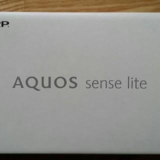 シャープ(SHARP)の新品☆AQUOS sense lite SH-M05 ブラック SIMフリー(スマートフォン本体)