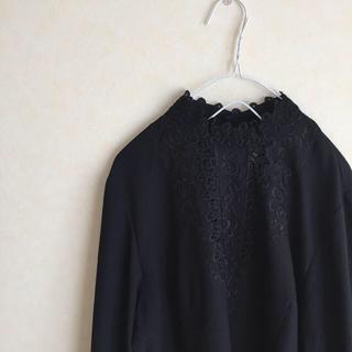 ロキエ(Lochie)のvintage black blouse(シャツ/ブラウス(長袖/七分))