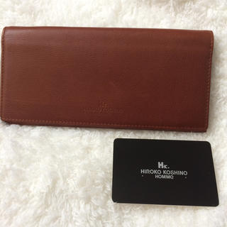 5d8d0bdeb529 ヒロココシノ(HIROKO KOSHINO)のヒロコ コシノ レザー 長財布 ブラウン(財布)