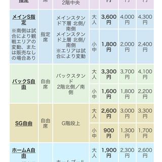 2月23日 川崎フロンターレvs FC東京 バックS自由席 4枚(サッカー)