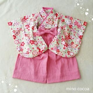 Tomoさま専用 handmade baby HAKAMA 80cm(和服/着物)