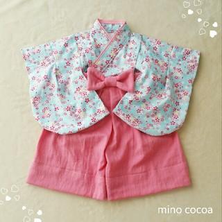 aotan521様専用 handmade baby HAKAMA 70-80cm(和服/着物)