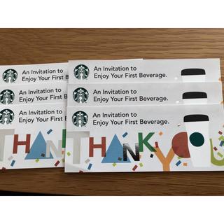 スターバックスコーヒー(Starbucks Coffee)のスタバ ドリンクチケット 6枚セット(フード/ドリンク券)