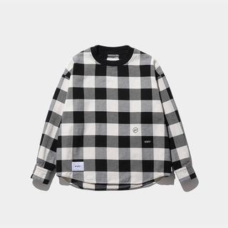 ダブルタップス(W)taps)のWTAPS×FRAGMENT チェック ネルカットソー L(Tシャツ/カットソー(半袖/袖なし))