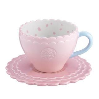 セット!カップ&ソーサー 桜 さくら 海外スターバックス ハート マグカップ