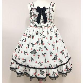 アンジェリックプリティー(Angelic Pretty)のAngelic Pretty Letter Dollジャンパースカート(ひざ丈ワンピース)