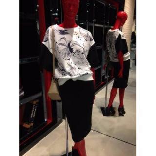 ダブルスタンダードクロージング(DOUBLE STANDARD CLOTHING)のすよんさま専用☆モノクロ花柄スウェットトップス(トレーナー/スウェット)