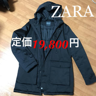 ZARA - 【本日限り!】モッズコート ダウンジャケット 黒 zara ザラ アウター