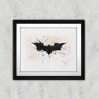 日本未発売!バットマンのマーク2・アートポスター【額縁つき・送料無料!】