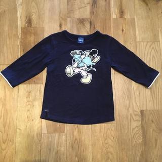 ディズニー(Disney)のディズニー ミッキーマウス 7部袖Tシャツ 130cm(Tシャツ/カットソー)
