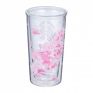スターバックスコーヒー(Starbucks Coffee)のスターバックス :桜シリーズ ダブルウォールグラス スタバ 台湾 グラス(グラス/カップ)