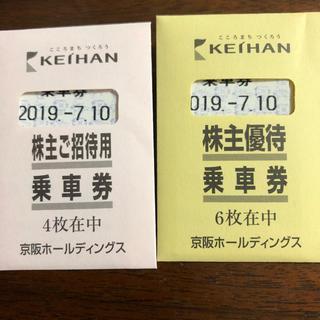 京阪乗車券10枚(鉄道乗車券)