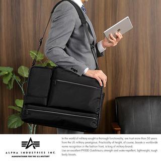 アルファインダストリーズ(ALPHA INDUSTRIES)の☆ アルファ ビジネスバッグ 4873 最安値 ブラック TANKシリーズ ☆(ビジネスバッグ)