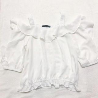 シマムラ(しまむら)のフリル オフショル ♡(シャツ/ブラウス(半袖/袖なし))