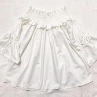 シマムラ(しまむら)のリボン オフショル ♡(シャツ/ブラウス(半袖/袖なし))