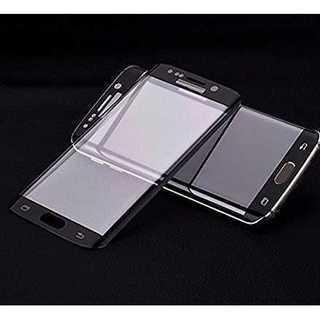 黒 ギャラクシー s6 S7 エッジ  全面保護フィルム 強化ガラス(スマートフォン本体)