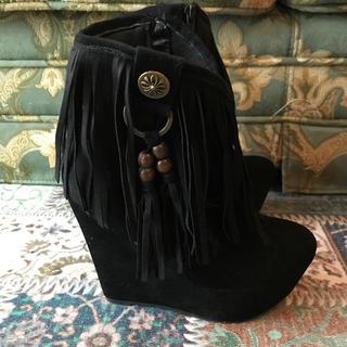 アニタアレンバーグ(ANITA ARENBERG)の新品☆ANITA ARENBERG アニタアレンバーグ フリンジブーツ 靴(ブーツ)