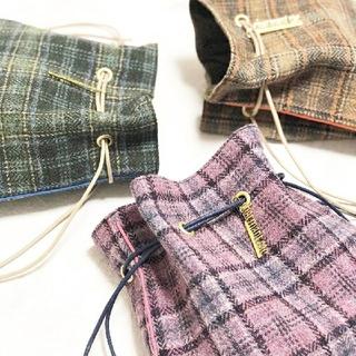 ドゥロワー(Drawer)のシャルマントサック charmantsac リントンツイード巾着バッグ(ショルダーバッグ)
