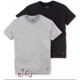 ラルフローレン(Ralph Lauren)のラルフローレン Tシャツ2枚セット 170センチ グレー&ブラック(Tシャツ/カットソー)