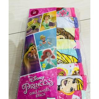 ディズニー(Disney)の新品 ディズニープリンセスパンツ 8枚セット 4歳(下着)