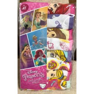 ディズニー(Disney)の【未使用/未開封】ディズニープリンセス 女児用ショーツ 8枚組(下着)