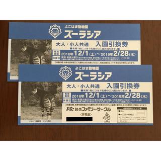 ズーラシア 入園引換券 2枚(動物園)