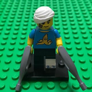 レゴ(Lego)のlego レゴ ミニフィグ シリーズ15 怪我 ケガ 包帯 バナナ 松葉杖(知育玩具)