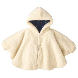 コンビミニ(Combi mini)のポンチョ ベビー アイボリー コンビミニ 新品未使用 ラッピング済み 紙袋付き(カバーオール)