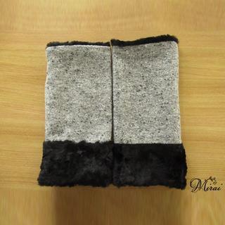 WINTER SALE グレーツィードハンドウォーマー M n-0102-4(手袋)
