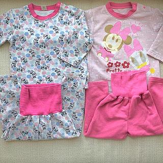 ディズニー(Disney)のミニー パジャマ 二枚組セット サイズ90-95(パジャマ)