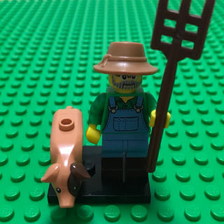 レゴ(Lego)のlego レゴ ミニフィグ シリーズ15 農夫 農家 農場 豚 ブタ (知育玩具)