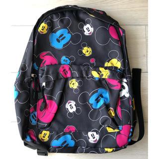 ディズニー(Disney)のミッキー  ミニー  リュックサック 黒 ブラック(リュック/バックパック)
