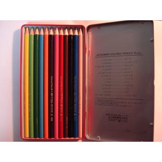 ミツビシエンピツ(三菱鉛筆)の12色 三菱 色鉛筆(色鉛筆 )