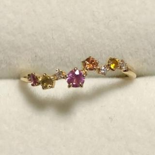スタージュエリー(STAR JEWELRY)のスタージュエリー k18  マルチカラー サファイヤ ダイヤモンド リング(リング(指輪))