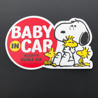 スヌーピー(SNOOPY)のBABY IN CAR スヌーピー マグネット(その他)