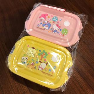 サンリオ(サンリオ)の新品 サンリオ くじ フードコンテナセット ピンク&オレンジ(容器)