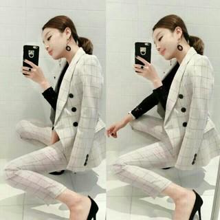 【再入荷】韓国ファッション フォーマル セットアップ スーツ風(スーツ)