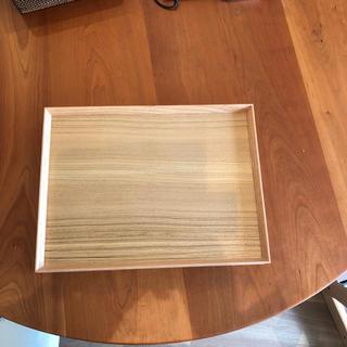 ムジルシリョウヒン(MUJI (無印良品))の無印良品 木製角型トレー 2枚組 新品(テーブル用品)