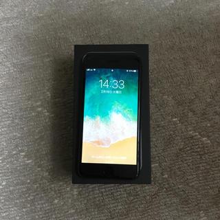 中古 au iPhone7 ジェットブラック 128GB バッテリー96%(スマートフォン本体)
