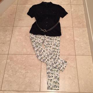 ギャップ(GAP)の新品 シルクブラウス&パンツ2点セット(シャツ/ブラウス(半袖/袖なし))