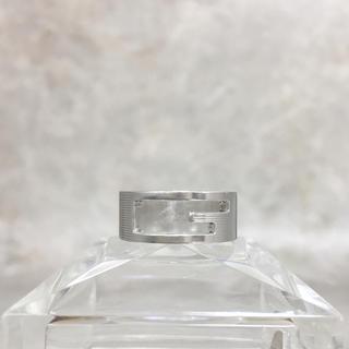 グッチ(Gucci)の正規品 グッチ 指輪 シルバー SV925 くりぬき GG 銀 ロゴ リング(リング(指輪))