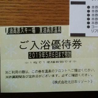 夏油高原温泉入浴券 2枚(スキー場)