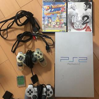 プレイステーション2(PlayStation2)のPS2 本体  ソフト、メモリーカード 付き(家庭用ゲーム本体)