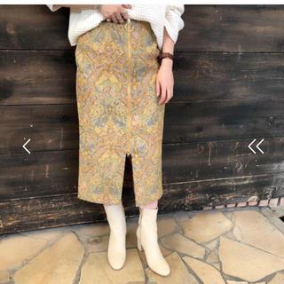 ドゥドゥ(DouDou)のdou douゴブラン織りスカート36(ロングスカート)