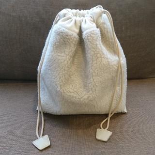 レプシィム(LEPSIM)のLEPSIM ボア巾着バッグ(ハンドバッグ)