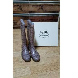 コーチ(COACH)のK様専用☆COACHレインブーツ美品(レインブーツ/長靴)